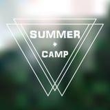 Logotipo para un campamento de verano Fotografía de archivo