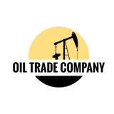 Logotipo plano de la compañía comercial del aceite Fotografía de archivo