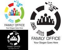 logotipo plano del diseño del vektor de la oficina de la familia libre illustration