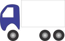 Logotipo plano simple del camión del diseño con el sitio para el texto Imagenes de archivo