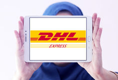 Logotipo postal do transporte de Dhl Imagem de Stock