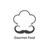 Logotipo preto do alimento gourmet Fotografia de Stock