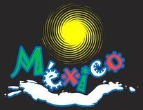 Logotipo preto mexicano ilustração do vetor