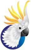 Logotipo principal da cacatua Fotos de Stock Royalty Free
