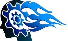 Logotipo principal da engrenagem ilustração royalty free