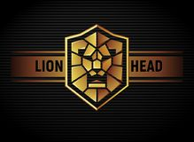 Logotipo principal del escudo del león Foto de archivo
