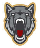 Logotipo principal del lobo Team Mascot ilustración del vector