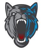 Logotipo principal del lobo Team Mascot Imagen de archivo libre de regalías