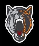 Logotipo principal del lobo Team Mascot Fotos de archivo