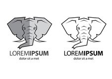 Logotipo principal do elefante Imagem de Stock