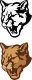 Logotipo principal do vetor da mascote do puma Fotografia de Stock