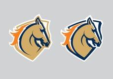 Logotipo profesional moderno con el mustango para un equipo de deporte libre illustration