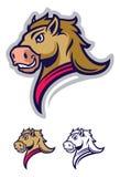 Logotipo profesional moderno con el mustango para un equipo de deporte stock de ilustración