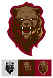 Logotipo profesional moderno con el oso grizzly para un equipo de deporte stock de ilustración