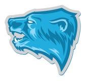 Logotipo profesional moderno con el oso grizzly para un equipo de deporte libre illustration