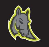 Logotipo profissional moderno com asno para uma equipe de esporte Fotografia de Stock
