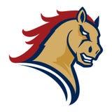 Logotipo profissional moderno com mustang para uma equipe de esporte Imagem de Stock