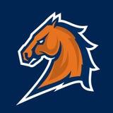 Logotipo profissional moderno com mustang para uma equipe de esporte Imagem de Stock Royalty Free