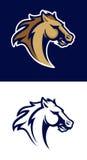 Logotipo profissional moderno com mustang para uma equipe de esporte Fotografia de Stock Royalty Free
