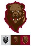 Logotipo profissional moderno com urso pardo para uma equipe de esporte Foto de Stock Royalty Free