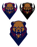 Logotipo profissional moderno com urso pardo para uma equipe de esporte Fotos de Stock Royalty Free