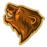 Logotipo profissional moderno com urso pardo para uma equipe de esporte Imagem de Stock