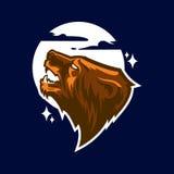 Logotipo profissional moderno com urso pardo para uma equipe de esporte Fotografia de Stock Royalty Free