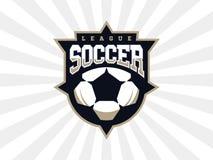 Logotipo profissional moderno do futebol para a equipe de esporte Imagens de Stock