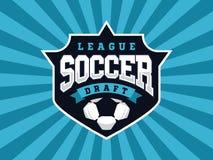 Logotipo profissional moderno do futebol para a equipe de esporte Fotos de Stock Royalty Free
