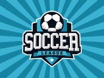 Logotipo profissional moderno do futebol para a equipe de esporte Fotografia de Stock