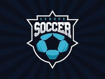 Logotipo profissional moderno do futebol para a equipe de esporte Imagens de Stock Royalty Free