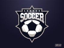 Logotipo profissional moderno do futebol para a equipe de esporte Foto de Stock Royalty Free