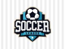 Logotipo profissional moderno do futebol para a equipe de esporte Imagem de Stock Royalty Free
