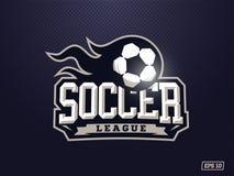 Logotipo profissional moderno do futebol para a equipe de esporte Fotos de Stock