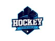 Logotipo profissional moderno do hóquei para a equipe de esporte Fotografia de Stock Royalty Free