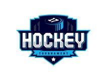 Logotipo profissional moderno do hóquei para a equipe de esporte Fotografia de Stock