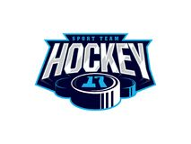 Logotipo profissional moderno do hóquei para a equipe de esporte Foto de Stock Royalty Free