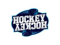 Logotipo profissional moderno do hóquei para a equipe de esporte Imagens de Stock