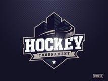 Logotipo profissional moderno do hóquei para a equipe de esporte Imagens de Stock Royalty Free