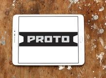 Logotipo Proto de la compañía de las herramientas Fotos de archivo