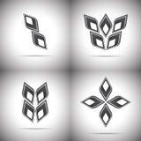 Logotipo quatro abstrato Imagens de Stock