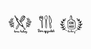 Logotipo que cuece casero libre illustration