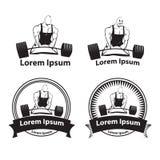 Logotipo que powerlifting Fotografia de Stock Royalty Free