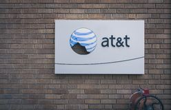 Logotipo quebrado de AT&T imagens de stock royalty free