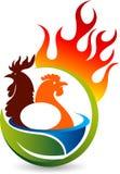 Logotipo quente da galinha ilustração do vetor
