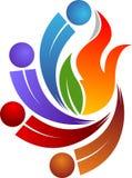 Logotipo quente dos pares ilustração stock