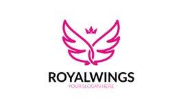 Logotipo real das asas ilustração stock