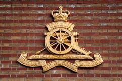 Logotipo real de la artillería Imágenes de archivo libres de regalías