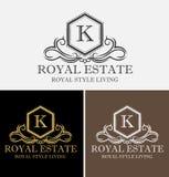 Logotipo real de Real Estate imagenes de archivo