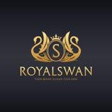 Logotipo real del cisne Fotos de archivo libres de regalías